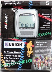 Fietscomputer Union 5 functies