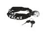 Kettingslot FALKX (3,5x800mm), zwarte nylon hoes