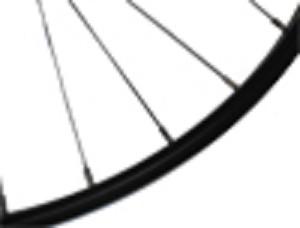 Achterwiel aluminium, zwart (terugtraprem)